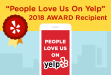 People Love Us On Yelp 2018 Award Recipient